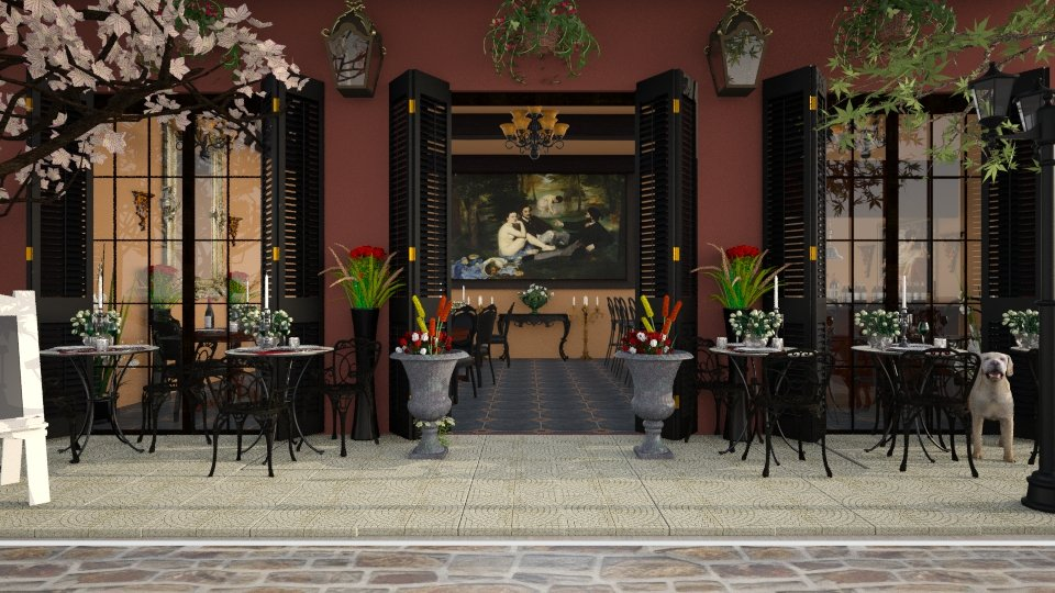 Design 41 French Bistro Entrance - Dining room - by Daisy320