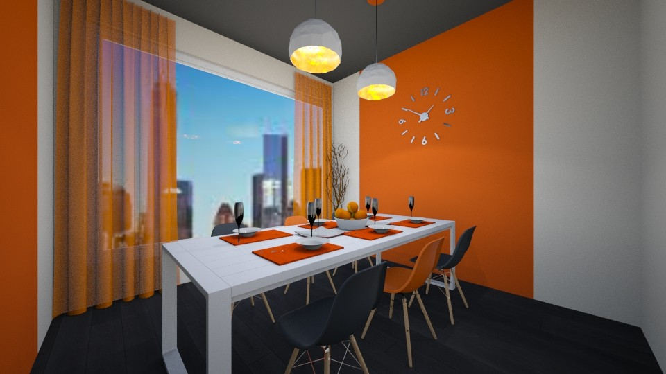 Orange Dining Room - Dining room - by LukePeterson