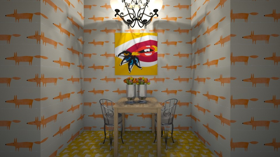 Foxy dining room - Dining room - by Crazy cat girl 10