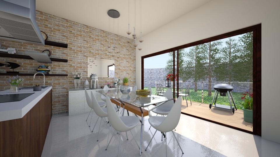 industrial dining room  - Dining room - by eleonoraxruc