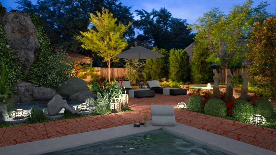 Nighttime Garden - Garden - by bigmama14