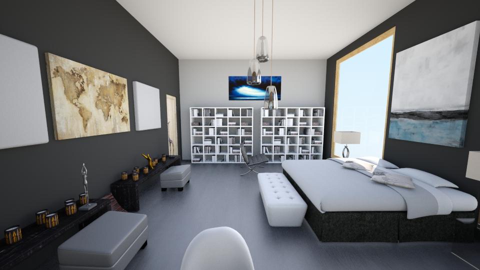 apartament grey - Modern - Bedroom - by dou2000