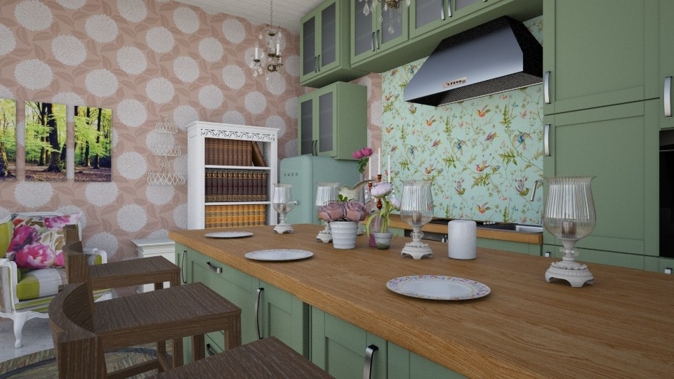 Shabby Kitchen - Kitchen - by HIHELLOHI