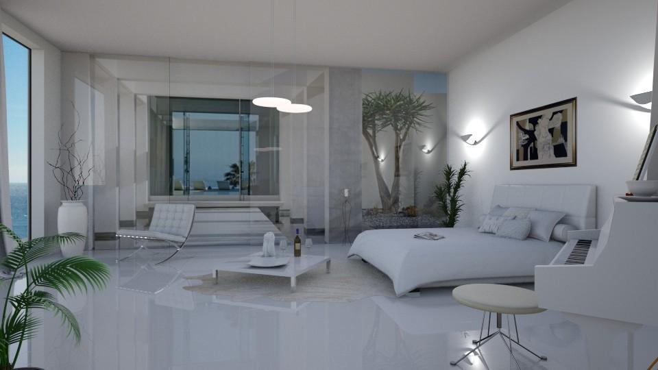 white bedroom - by barnigondi