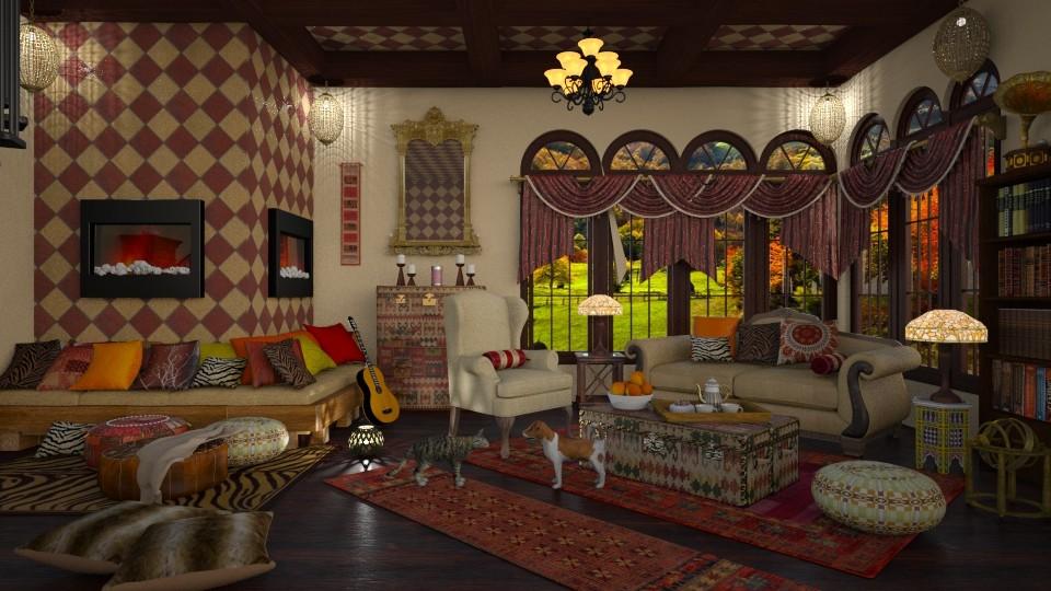Boho Family Room Renewal - by lydiaenderlebell