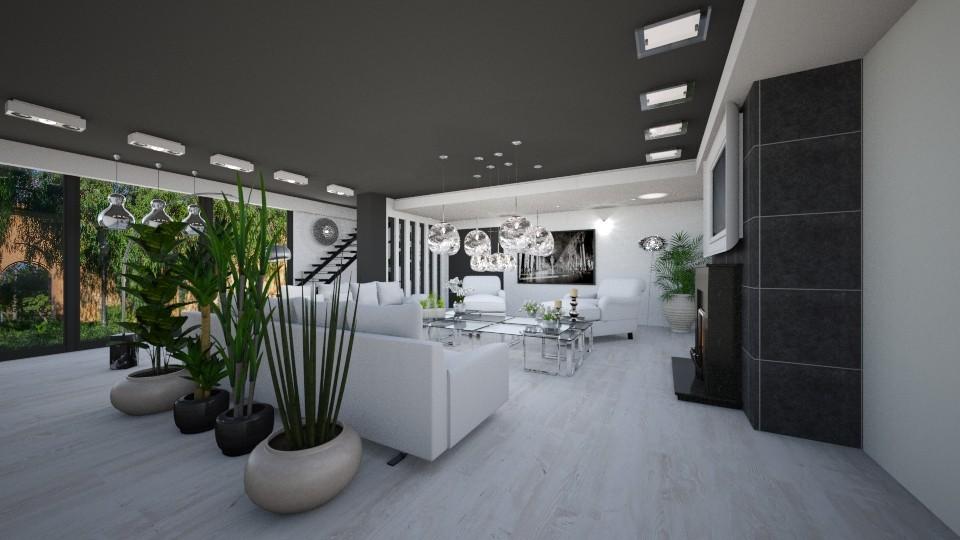 Glamour Living Room - Living room - by JarkaK
