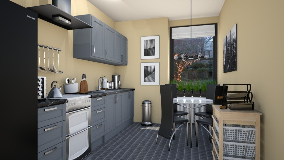 Small Functional Kitchen - Modern - Kitchen - by LadyVegas08