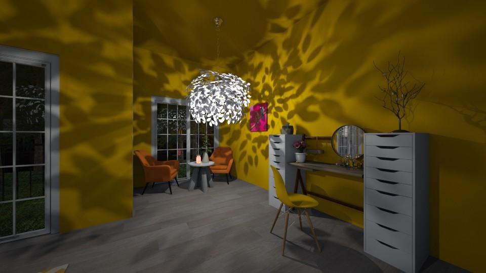 bedroom yellow - Bedroom - by joja12345678910