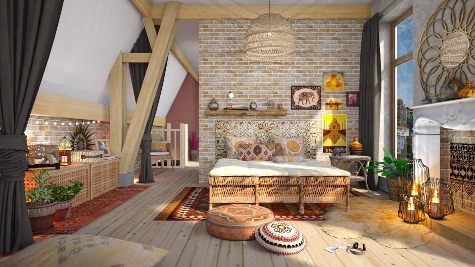 Bohemian Bedroom - Feminine - Bedroom - by Mandine