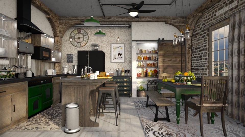rustica - Vintage - Kitchen - by starsector