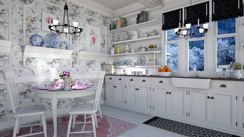 Shabby Chic Kitchen - Kitchen - by  krc60