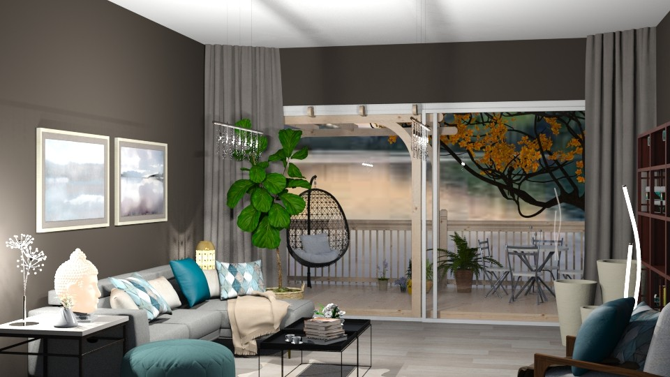 LakeHouse - Modern - Living room - by LeilaniD04