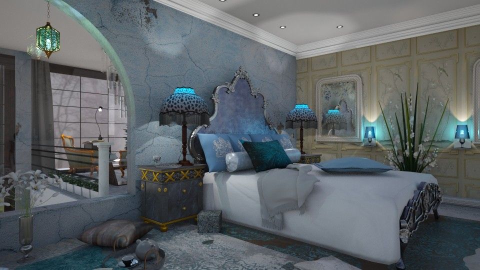 Blue Bedroom - by marocco