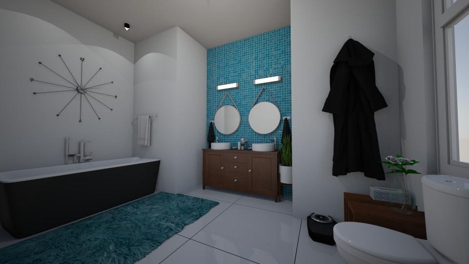 mid century bathroom - Retro - Bathroom - by Mackenzie Kem