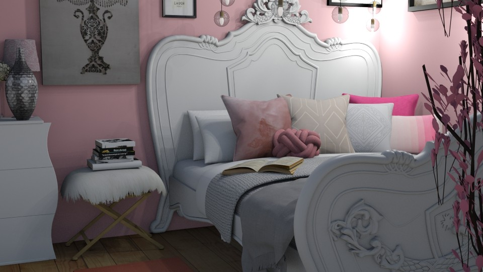 pink - Bedroom - by ivetyy1010