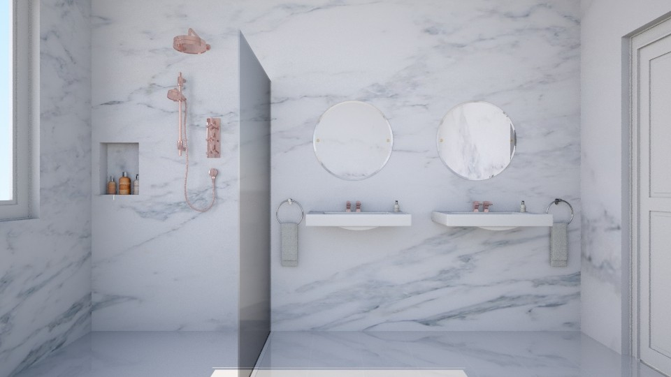 Rose Gold with Marble - Bathroom - by Ryan_22_