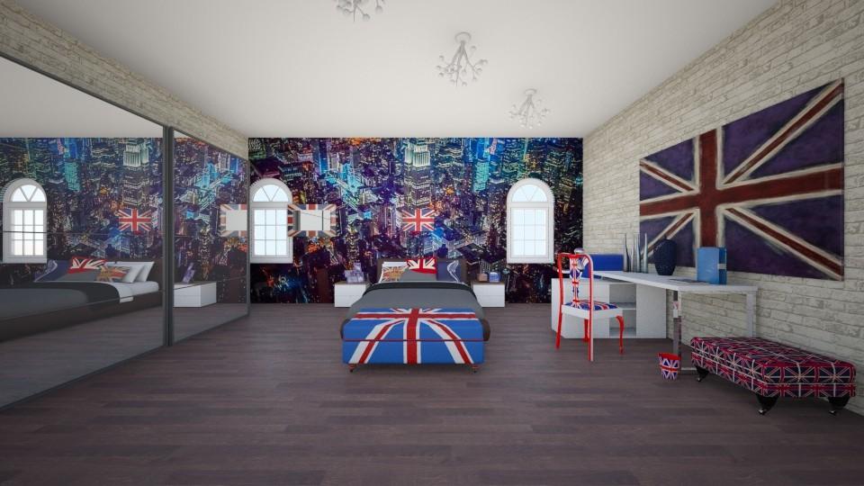 American - Bedroom - by kotki