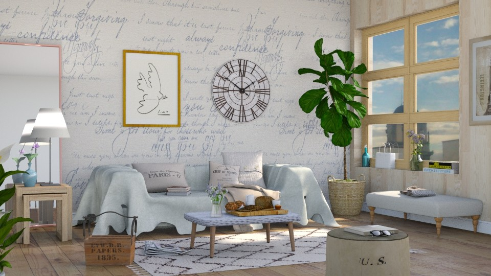 Quiet Living - Living room - by Sally Simpson