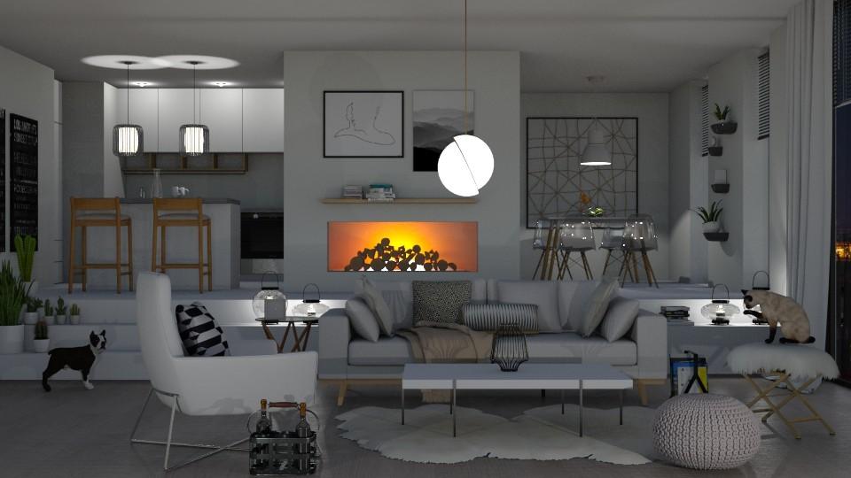 White and cozy - by aniachoynowska