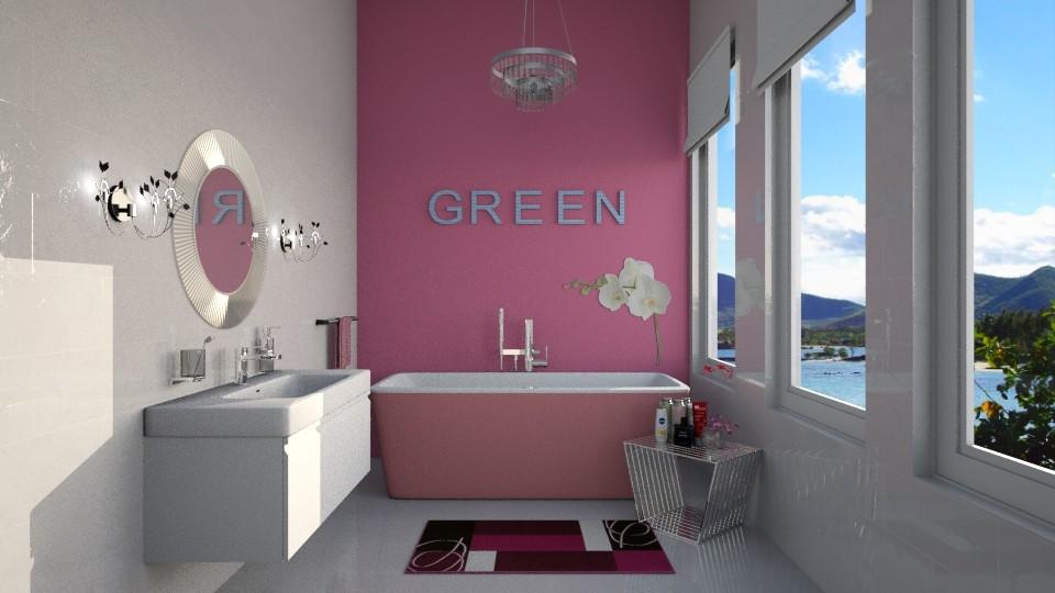 Rose Green - Feminine - Bathroom - by Rose Hdz