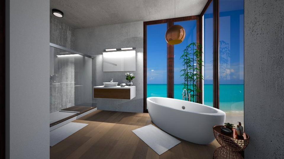 Modern bathroom - Bathroom - by amybranco