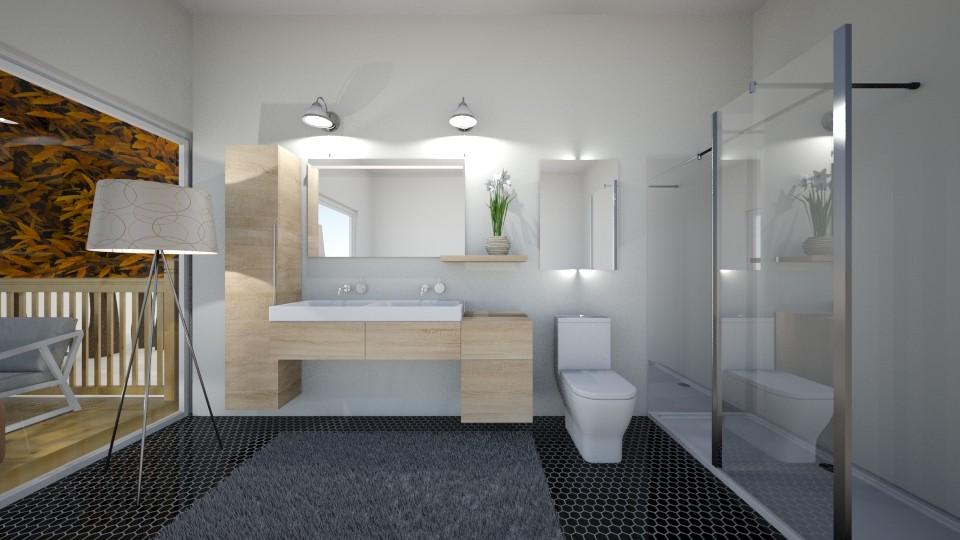 Mid century modern bath - Bathroom - by iampebbles