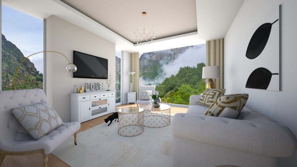 Living Room Mountains - Living room - by jackbiggxx