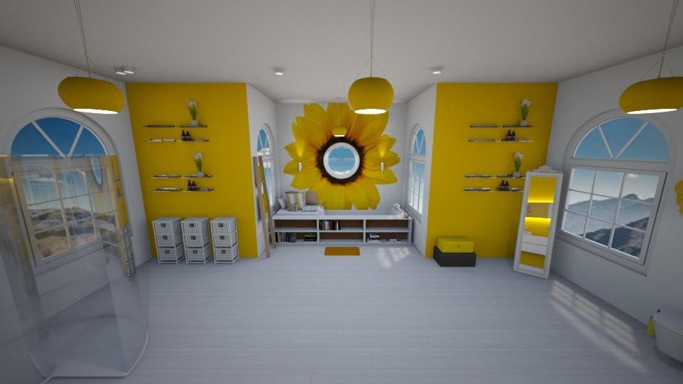 yellow bathroom - Bathroom - by Der Wandernde Vogel