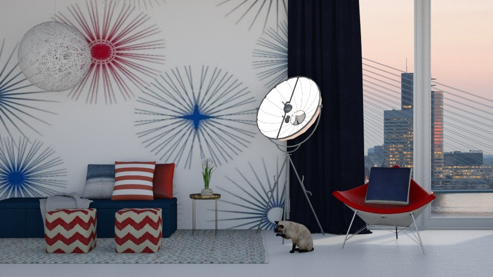 Red White And Blue - Modern - Living room - by bgref