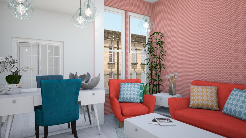 Bright Apartment - Living room - by _PeaceLady_