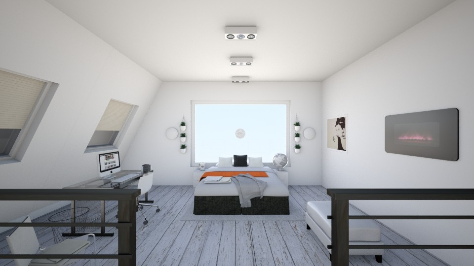 Loft Bedroom - Modern - Bedroom - by KKIsCrazyAF