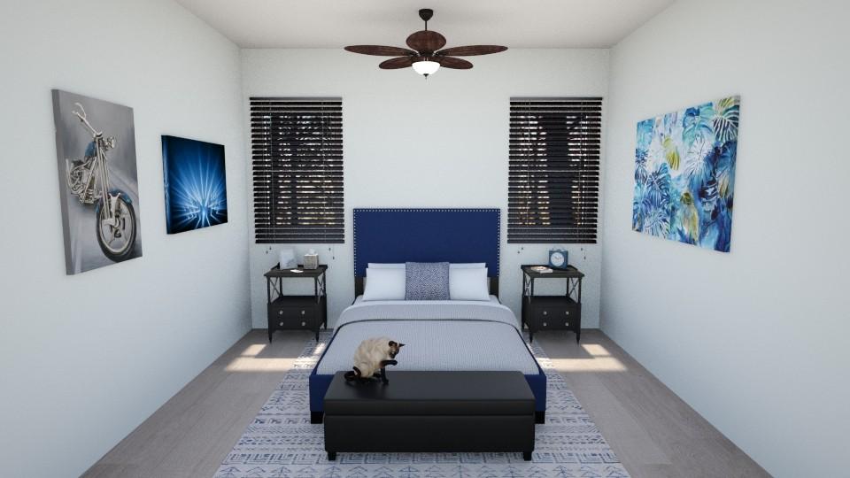 Hints of Indigo - Bedroom - by Abigail Enloe