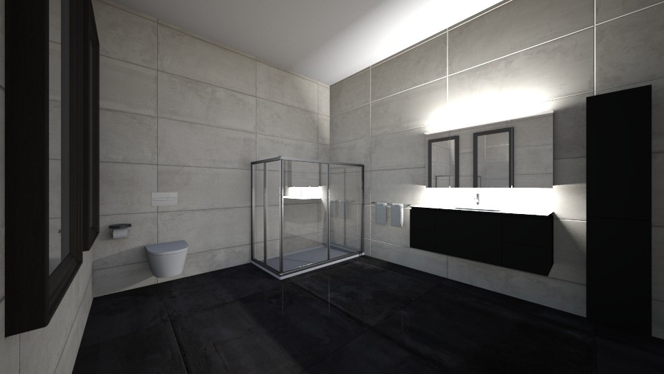 Black Bathroom_Home 1 - Modern - Bathroom - by Itsjustme1