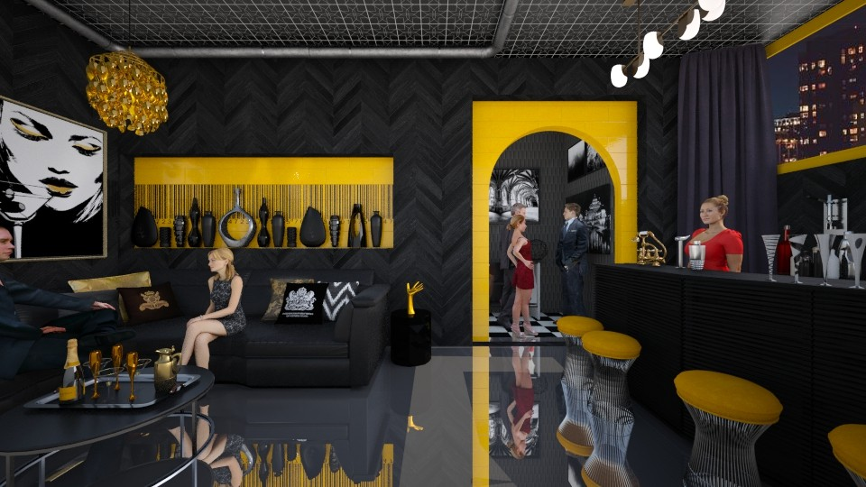 Gold and Black VIP club - by Randy Hamlin Jule