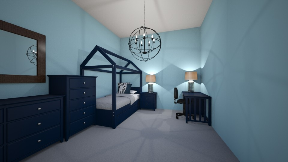 Boys room in blue - Masculine - Kids room - by JarvisLegg