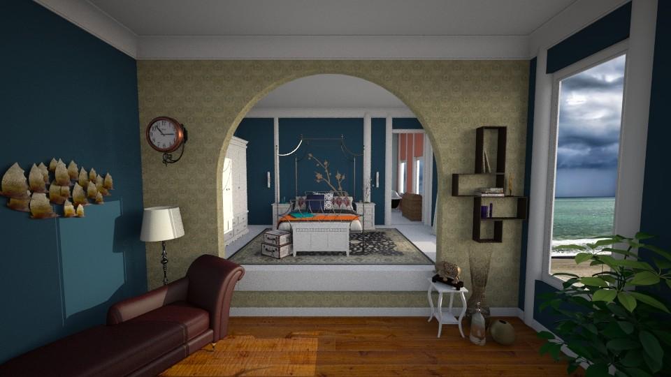 split level hotel room - Bedroom - by Oftheyear18