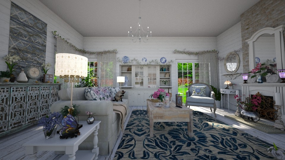 Shabby Chic LR 1 - Living room - by  krc60