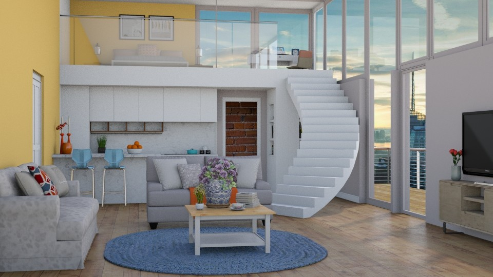 mezzanine apartment based on Meggie's design - by maheen ahsan