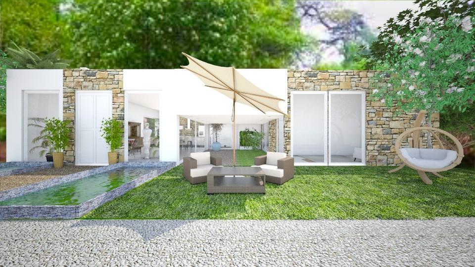 Casa Luz do Sol Fachada - Garden - by Natt Vasconcelos