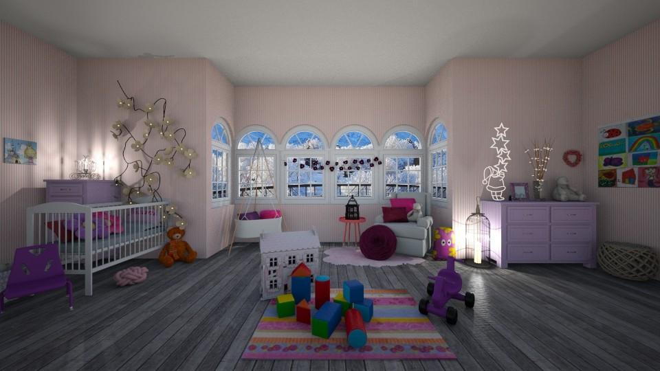 Pink Nursery - Modern - Kids room - by Dragana2212