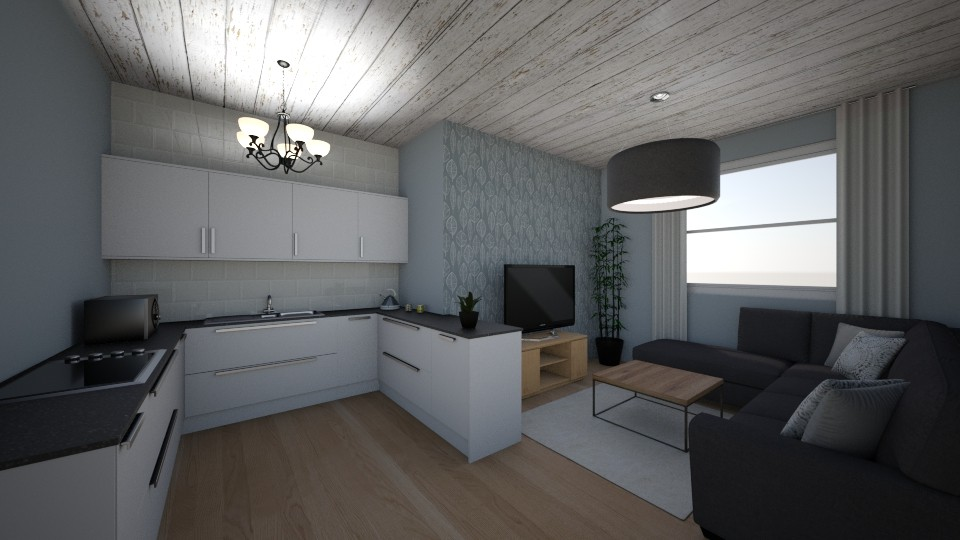 Kitchen and living area - Kitchen - by sarahbatty