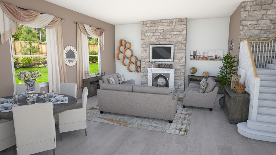 Earth Tones - Living room - by Shelley_1