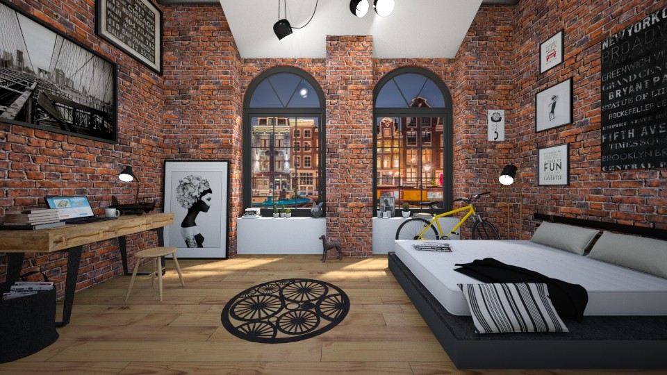 Industrial - Bedroom - by ArtHousedeco