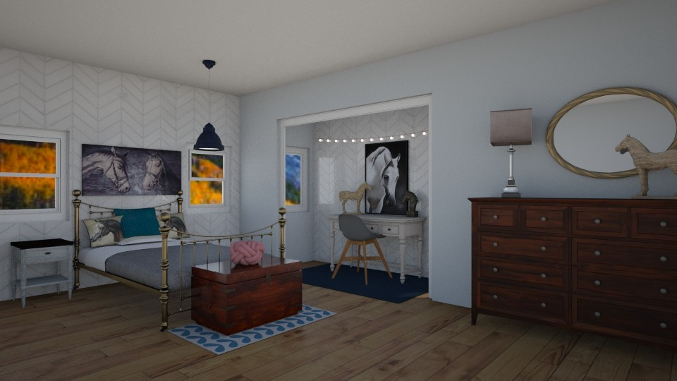 Horselover Bedroom - Bedroom - by Fixer Upper Rules