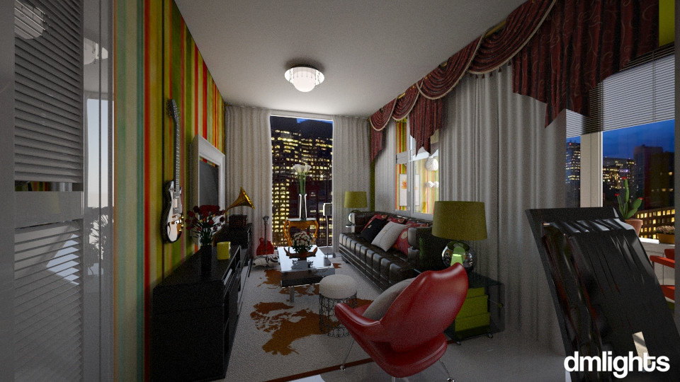 Pequeno Apartamento - Living room - by DMLights-user-994540