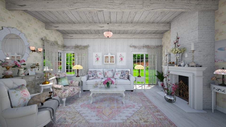 Shabby Chic LR 5 - Living room - by  krc60