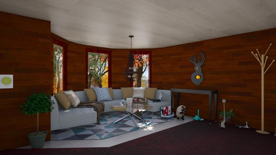 Study Corner - Modern - Living room - by Fuzzy Squirrel