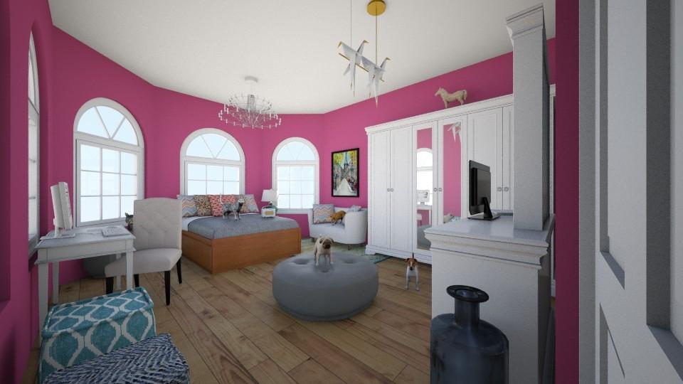 Busy Bedroom  - Bedroom - by snowytiger6