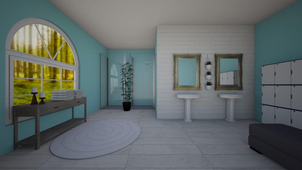 Elegant Locker Room - Bathroom - by BlobbyFish