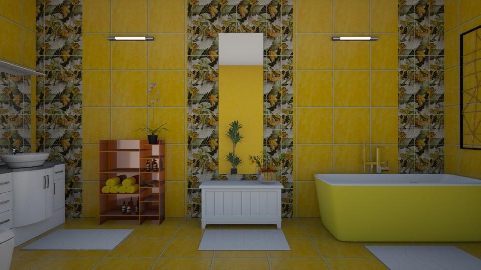 Yellow Bathroom - Bathroom - by Ana Angela